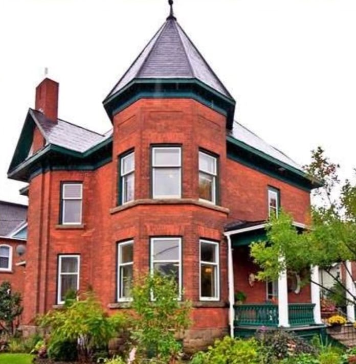 Christmas in Carleton Place House Tour Christmas decorating ideas Victorian home turret