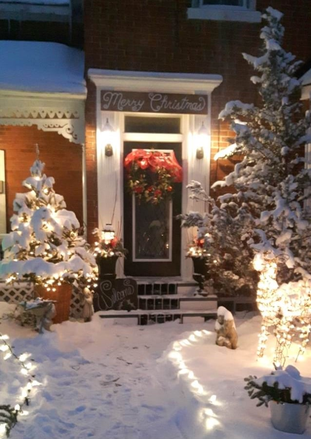 Christmas in Carleton Place House Tour Christmas decorating ideas winter front door