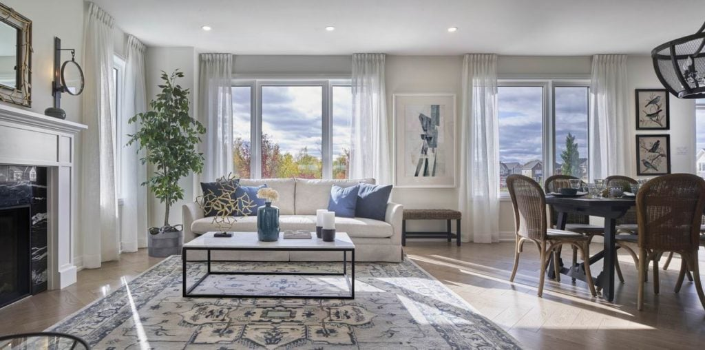 The Ridge Caivan Communities Barrhaven Ottawa new homes open-concept living room dining room