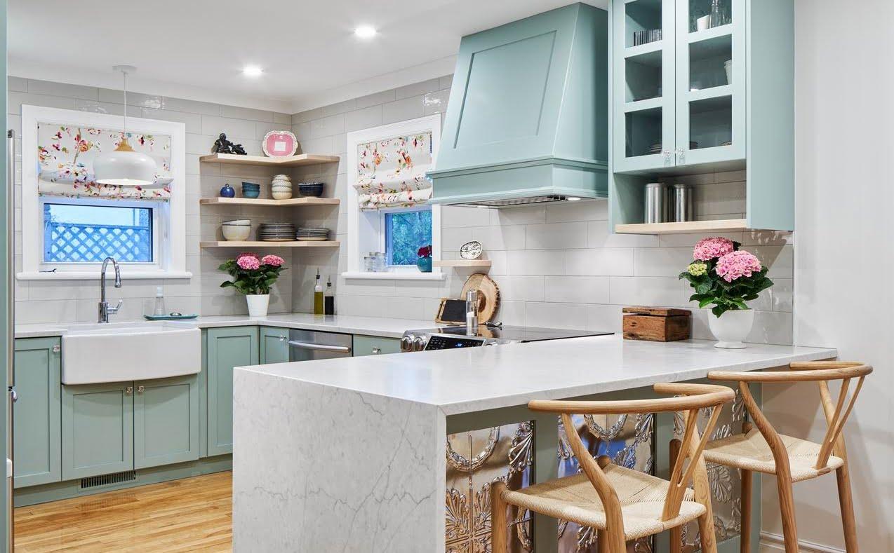 Ottawa kitchen blue cabinets