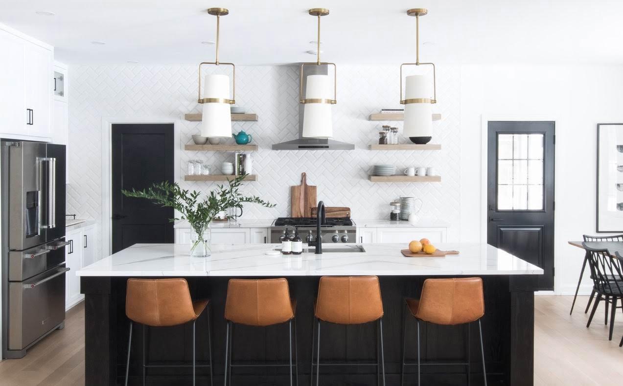 2019 NKBA awards two-tone kitchen open shelving