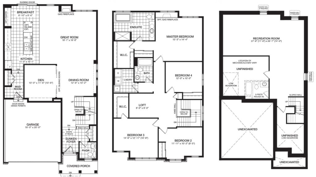 Ottawa new homes Glenview Homes the Blakely Barrhaven