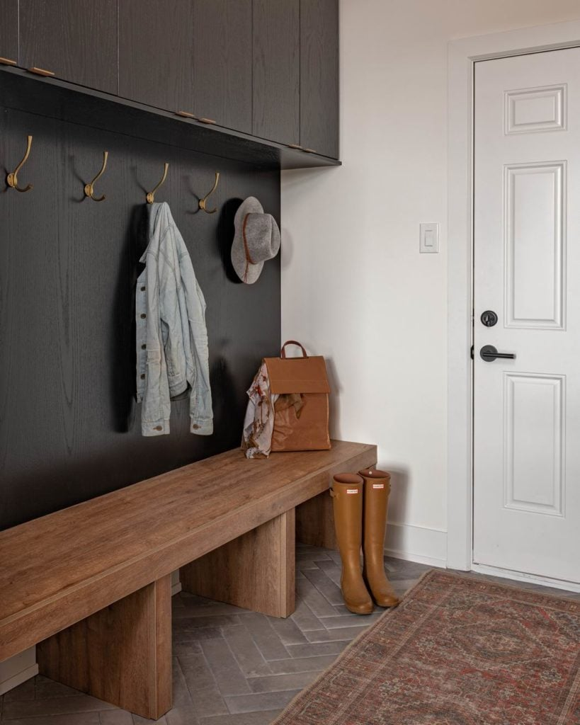 Ottawa new homes Glenview Homes the Blakely Barrhaven mudroom