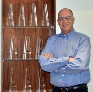 Gordon Weima Design Build shelves of trophies