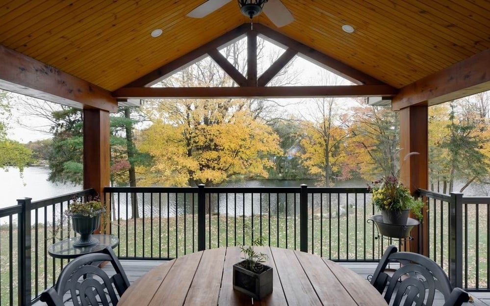 Lagois Design Build Renovate covered porch Ottawa outdoor spaces outdoor living