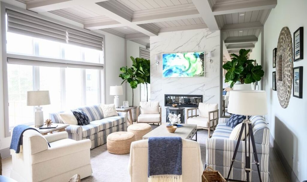 Minto dream home CHEO Dream of a Lifetime Lottery family room coffered ceilings