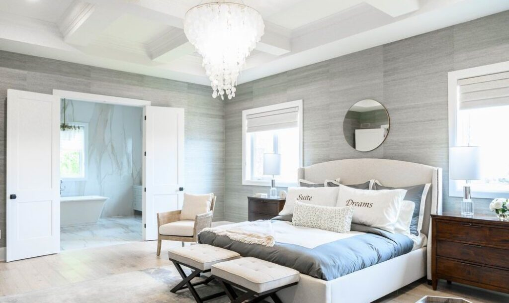 Minto dream home CHEO Dream of a Lifetime Lottery master bedroom coffered ceilings