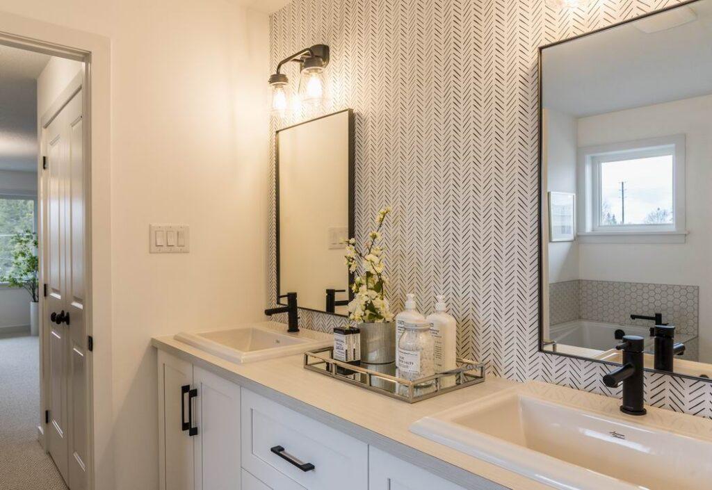 Nichols model home Cardel Homes Creekside Richmond ensuite vanity