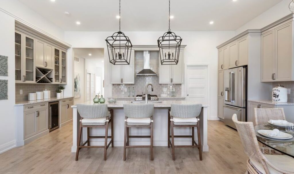 Models at Pathways at Findlay Creek eQ Homes Firestone bungalow kitchen Ottawa new homes