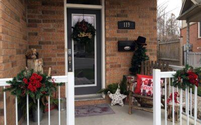 Christmas porch makeover Sue Pitchforth