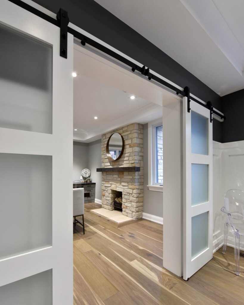 Amsted Design-Build Glebe renovation Reno Tour 2019 barn doors