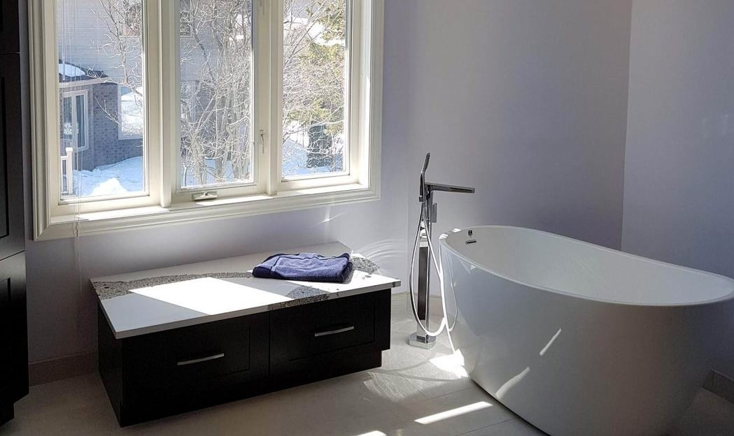 Gladwin Building Services Reno Tour 2019 bathroom ensuite renovation