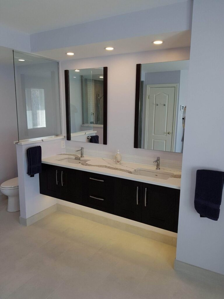 Gladwin Building Services Reno Tour 2019 bathroom ensuite renovation