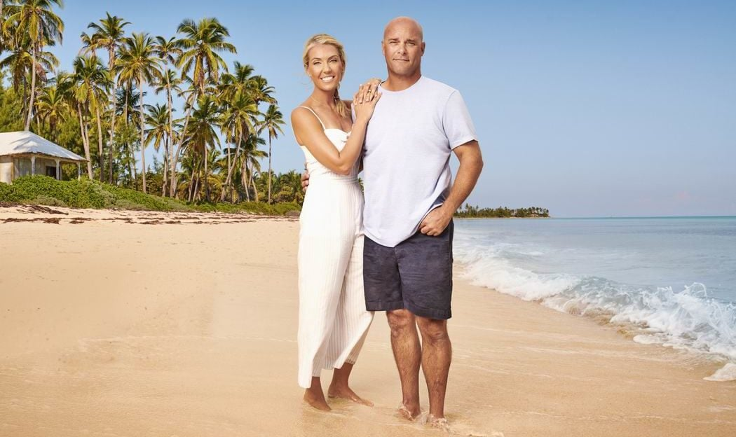 Sarah Baeumler Bryan Baeumler Caerula Mar Club couple on a tropical beach island of Bryan HGTV