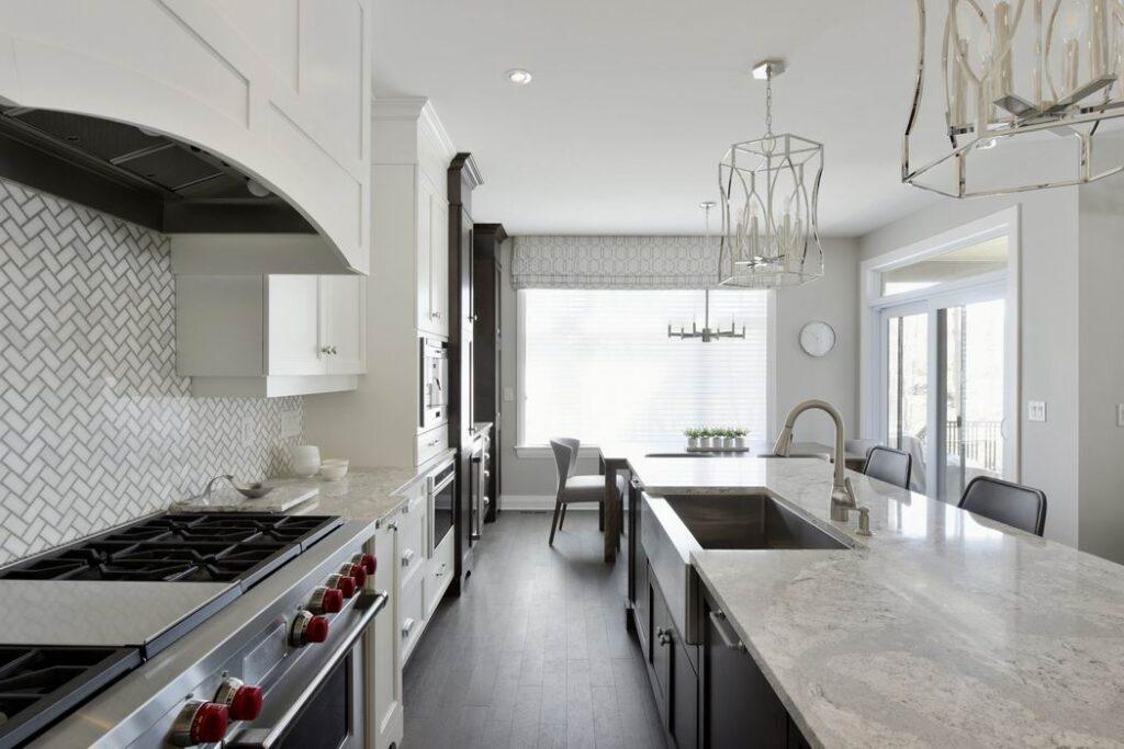 apron sink farmhouse style Ottawa kitchens Uniform Urban Developments Deslaurier Custom Cabinets