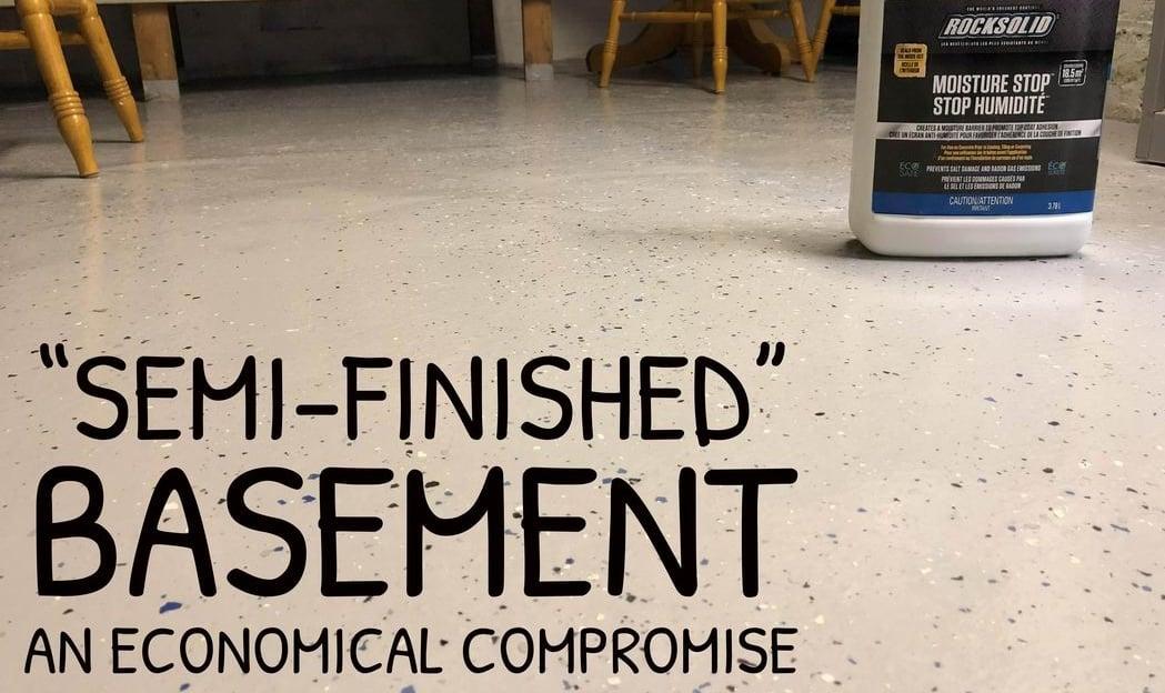 basement ideas semi-finishing Steve Maxwell