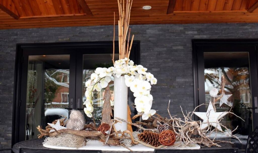 Homes for the Holidays Trillium Floral Designs Christmas decorating orchids