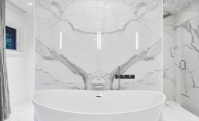Ottawa design ensuite bathroom freestanding tub marble