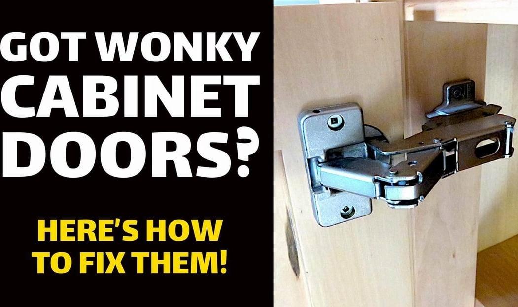 Got Wonky Cabinet Doors Here S How To, Hinges For Bathroom Cabinet Doors