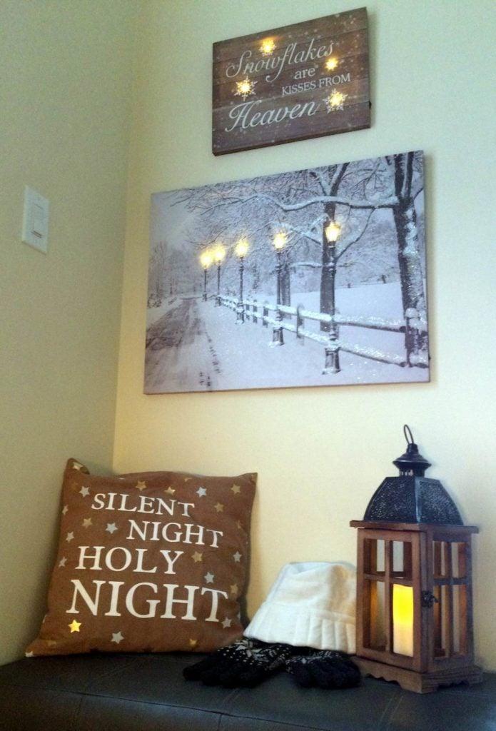 Christmas decorating Sue Pitchforth
