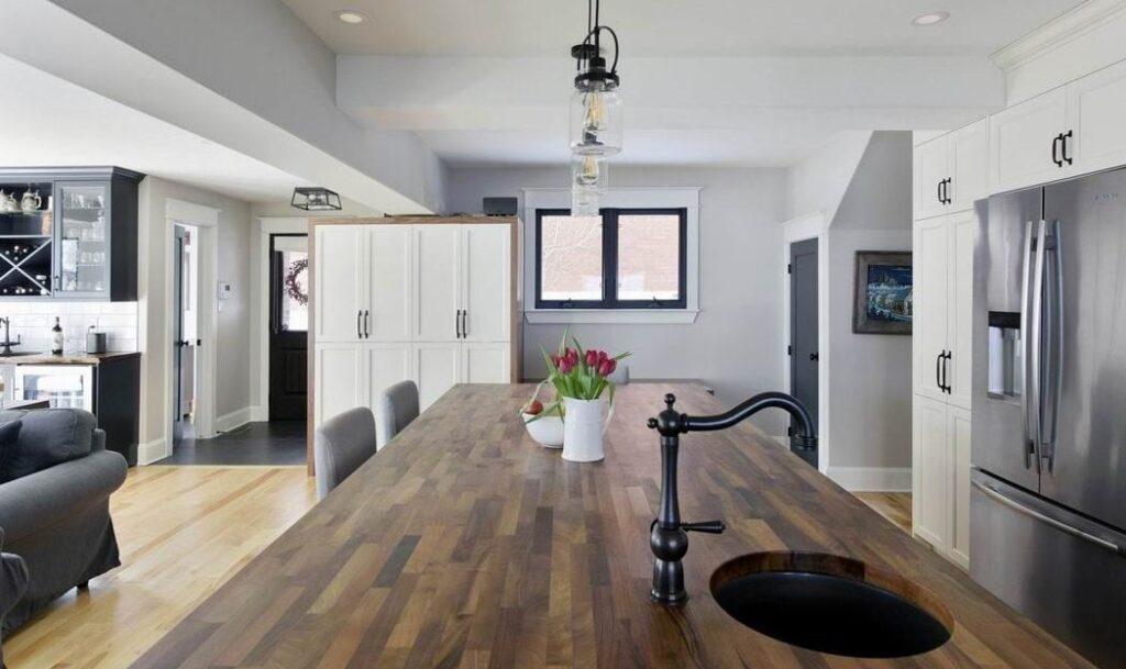 kitchen countertops Amsted Design-Build Ottawa kitchens black walnut