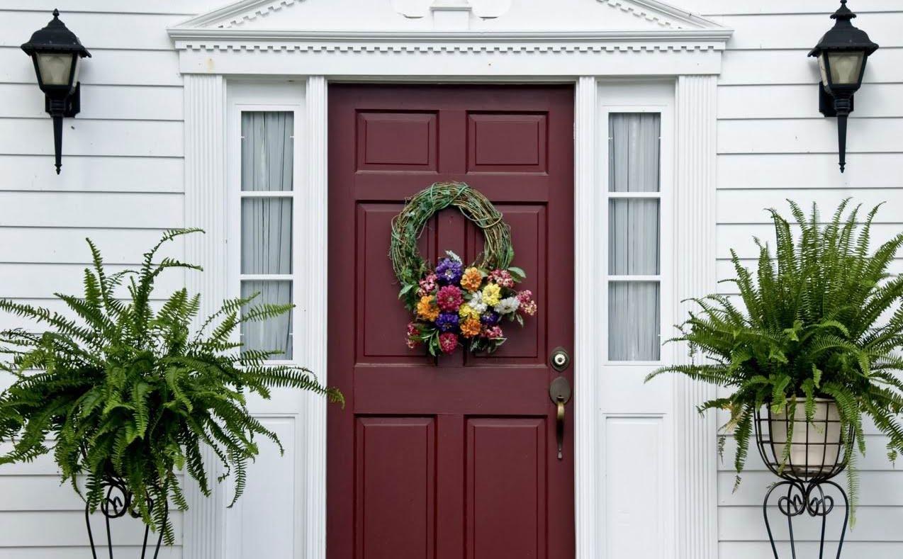 refinish a fibreglass exterior door