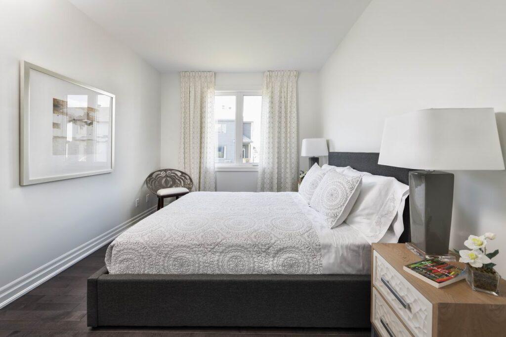 Ottawa new homes eQ Homes Riviera model main-floor bedroom suite