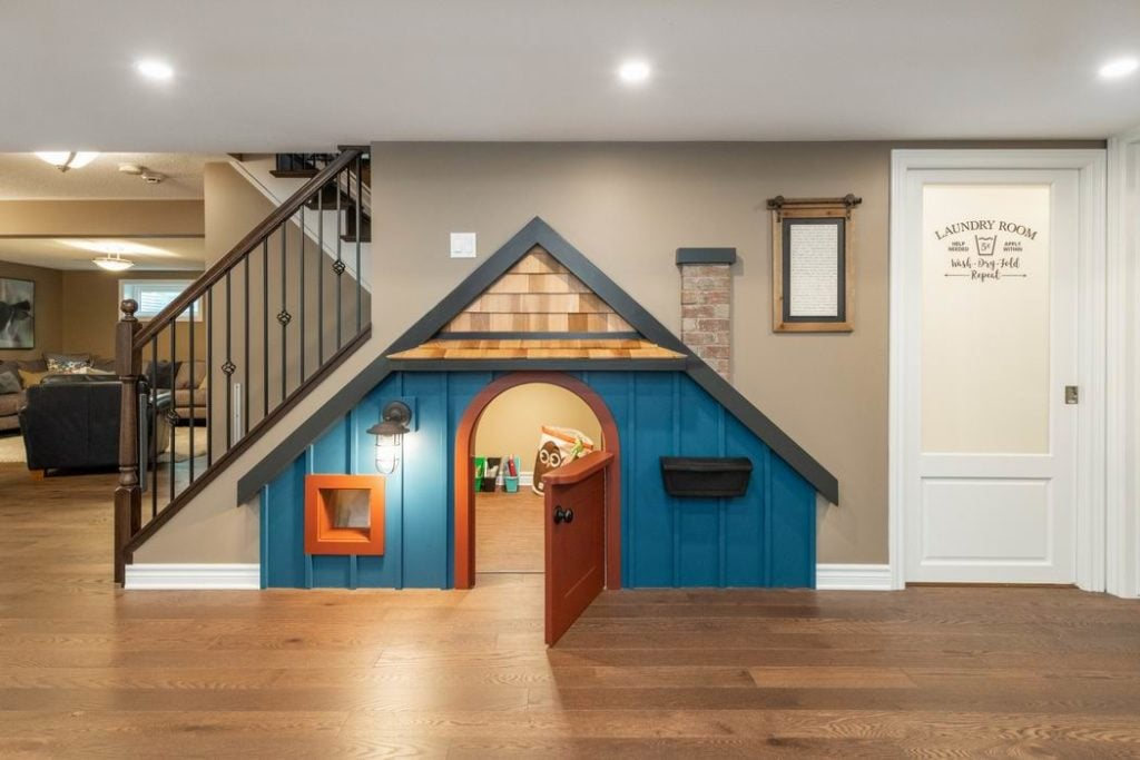 2019 Housing Design Awards Ottawa design awards Just Basements Ottawa basement renovations playhouse under the stairs