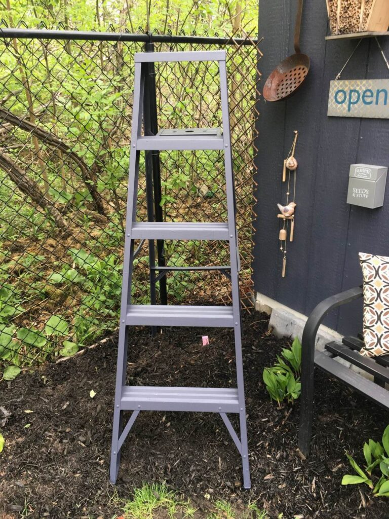 Sue Pitchforth Decor Therapy Plus ladder upcycling