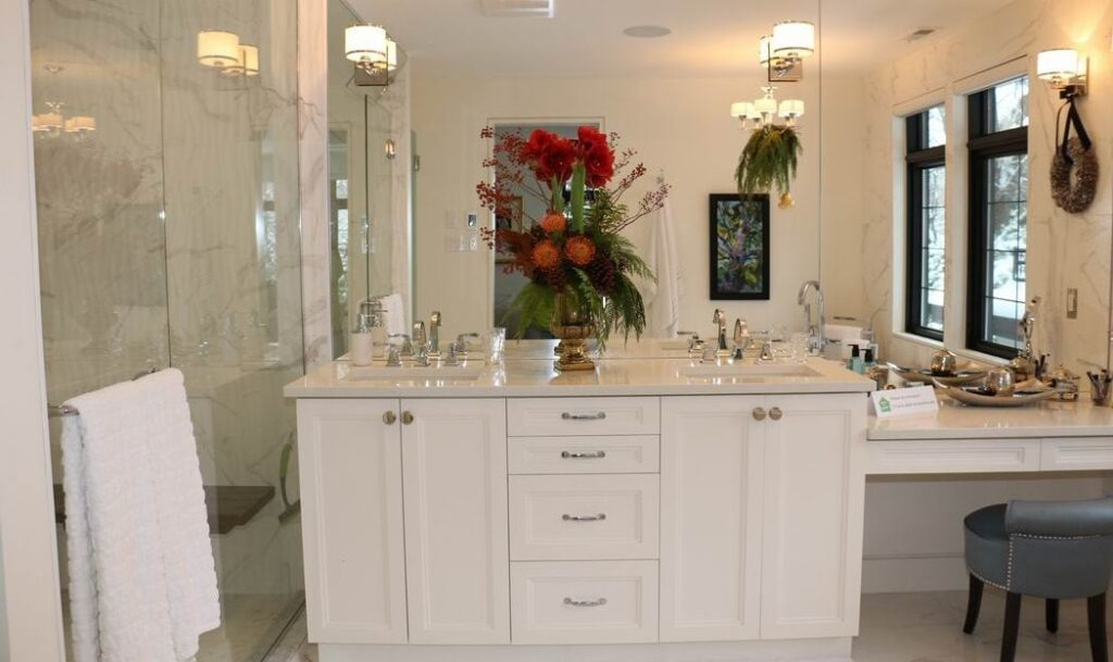 Homes for the Holidays Mill Street Florist Christmas decorating ensuite