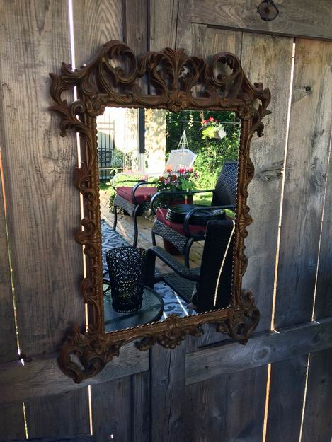 how to create outdoor spaces outdoor mirror fence art Sue Pitchforth