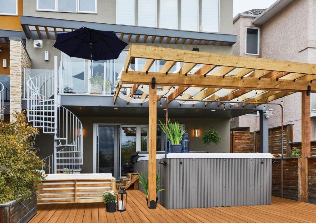 pergola backyard shade and privacy Carson Arthur MicroPro Sienna