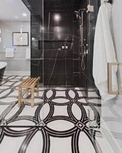 Amsted Design-Build Ottawa kitchens porcelain shower