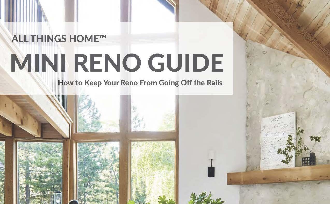 Thinking about a renovation Mini Reno Guide home improvement