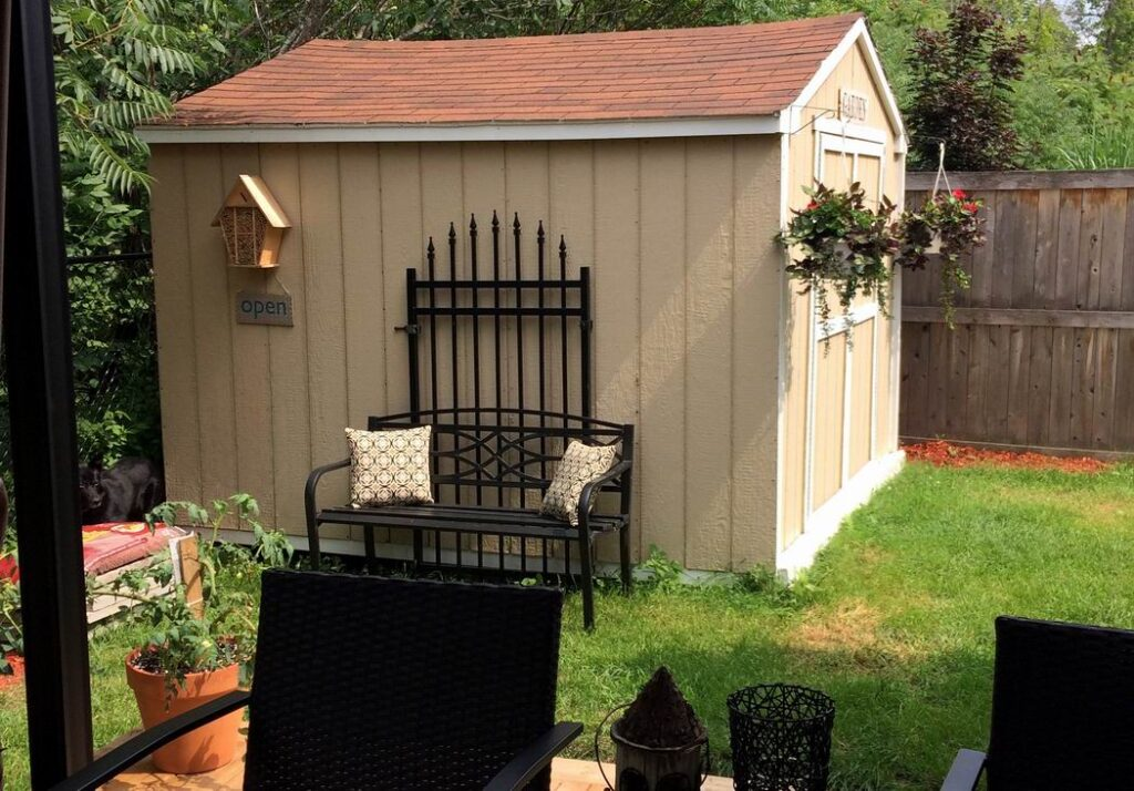 shed vignette Sue Pitchforth outdoor decor