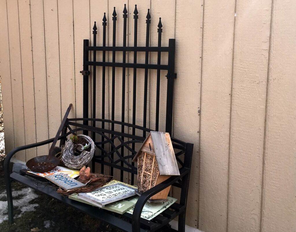 shed vignette Sue Pitchforth outdoor decor