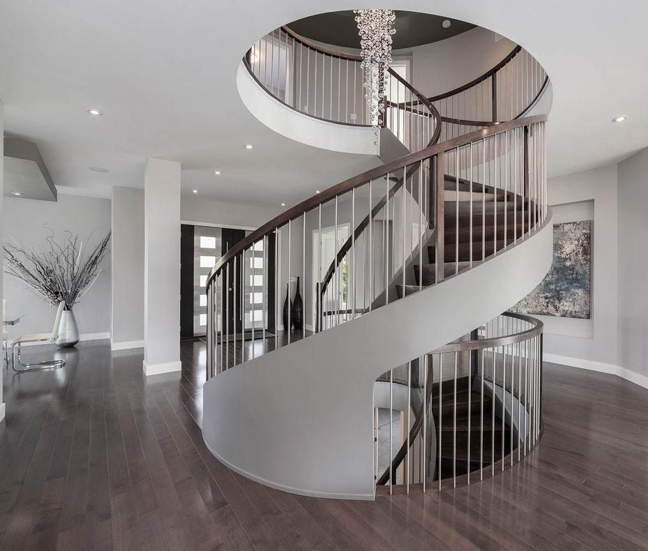 Ottawa staircases Canterra Design circular