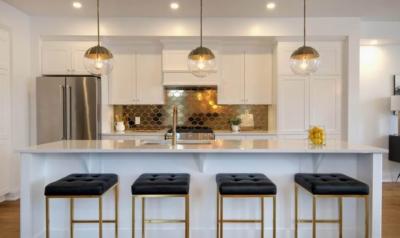 metallic tile kitchen backsplash Ottawa homes