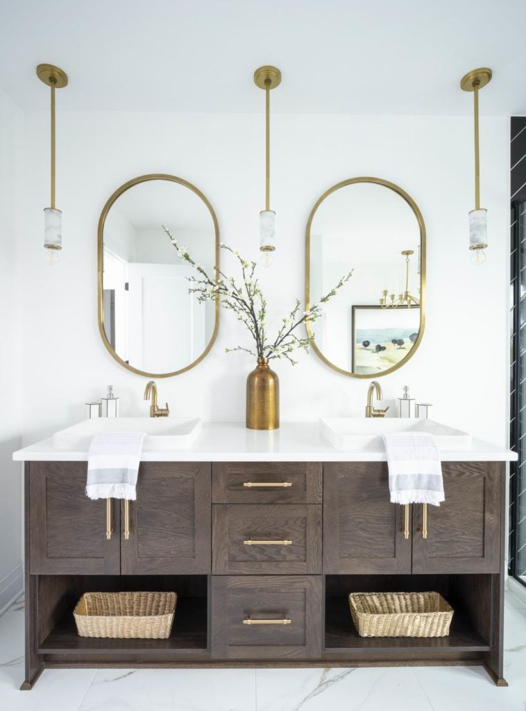 bathroom vanities open shelving Ottawa homes