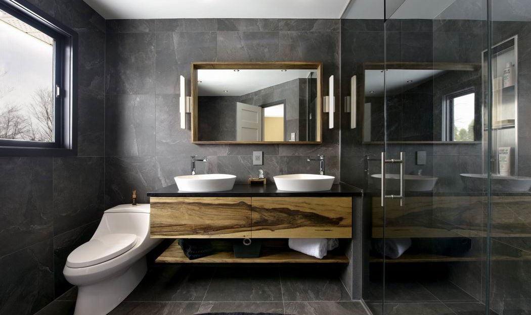 bathroom vanity open shelving Housing Design Awards Tego Bathroom Solutions
